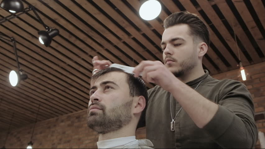Master Cuts Hair And Beard Stock Footage Video 100 Royalty Free 26609534 Shutterstock