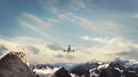 Airplane Landing Alps Switzerland
