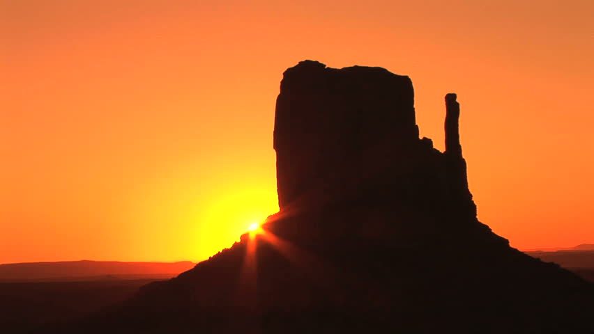 Sunrise on West Mitten, Monument Valley Navajo Tribal Park, time lapse