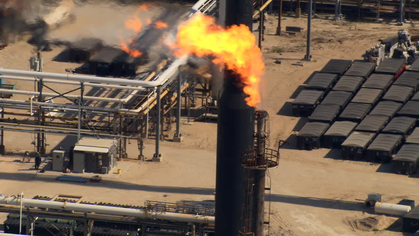 Orbiting oil refinery