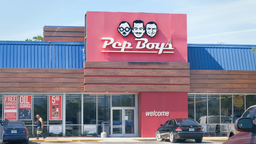 TAMPA, FL - MAY 12, 2017: Pep Boys store open for business on May 12, 2017. Pep Boys Auto Supply is an American automotive aftermarket retail and service chain.