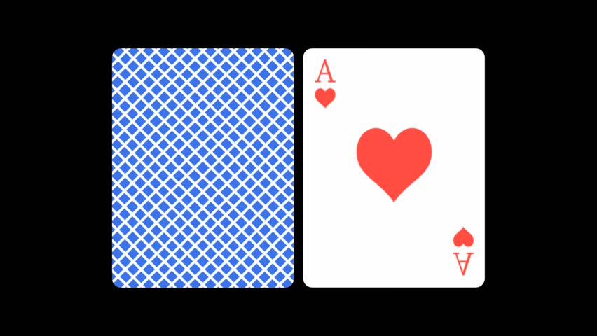 Abstract CGI motion graphics and animated background with flipping Ace playing cards
