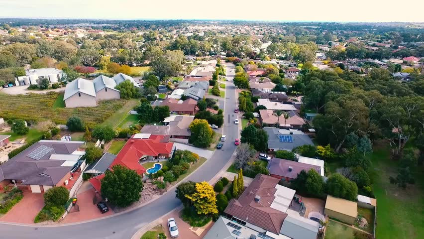 Aerial view of a suburb in south Australia, lifestyle living in adelaide   | Shutterstock HD Video #26805817