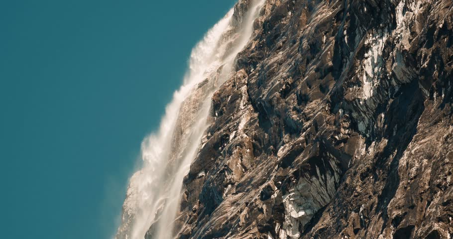 Huge Unnamed Waterfall In Norway - Cinematic Style | Shutterstock HD Video #26808514