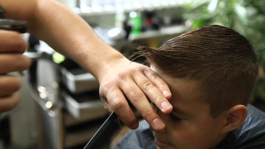 Little Boy Getting Haircut By Stock Footage Video 100 Royalty Free