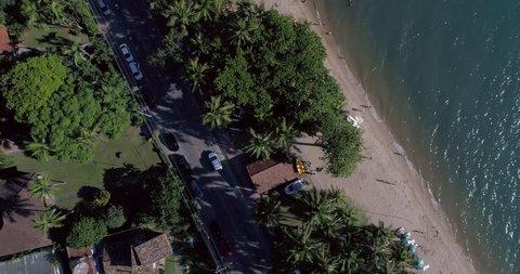 Top View of a Beach in Ilhabela, Sao Paulo, Brazil
