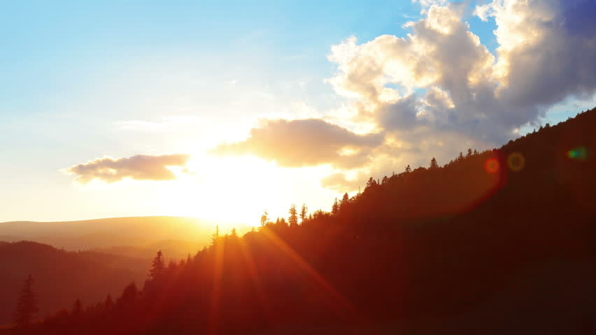 sunset in the mountains #2692046