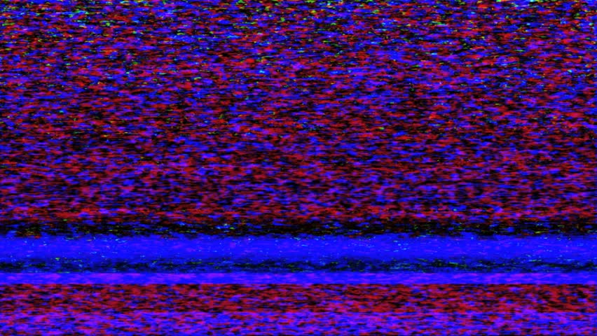 HD - Colorful TV Noise and TV Static fill the screen (Loop).