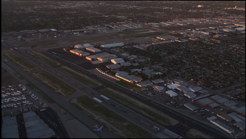 Flying over airport in Los Angeles. Shot in 2010. | Shutterstock HD Video #26936926