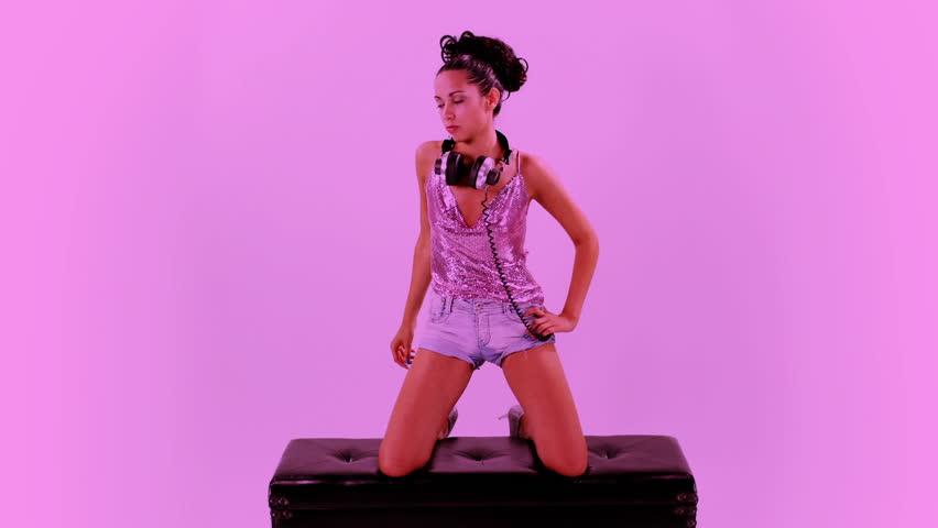 A sexy gogo dancer shot in a studio | Shutterstock HD Video #2695394