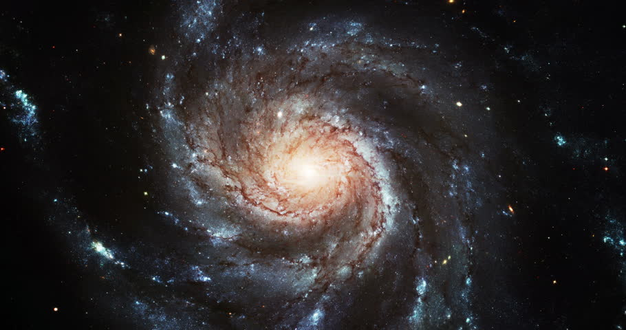 Pinweel Galaxy Spinning in the Universe, 4K some elements furnished by NASA images