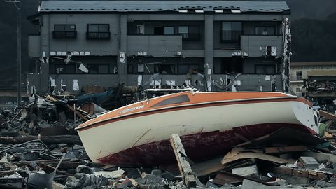 Tsunami: 04/30/2011 japan, city destroyed by tsunami