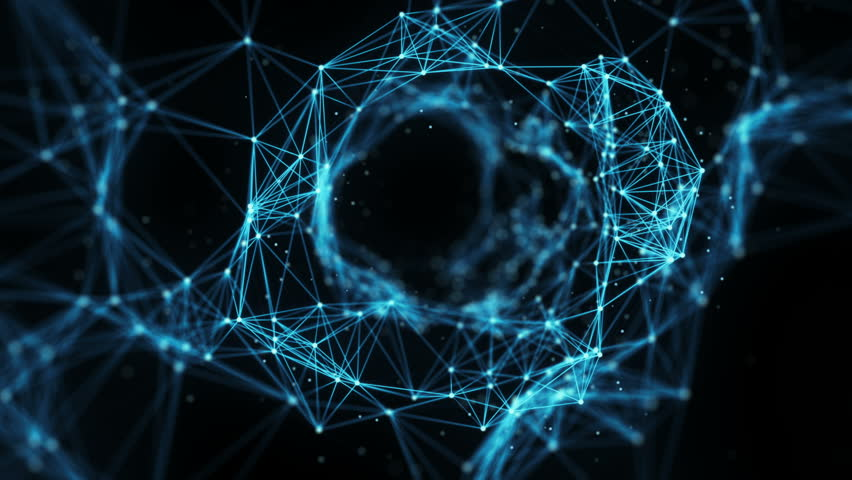 A Flying Through Digital Data Tunnel, made of digital nodes and connection paths. This animation can be used for visuals, vj, light presentations or as motion background. Alpha Matte. 4k | Shutterstock HD Video #27007684