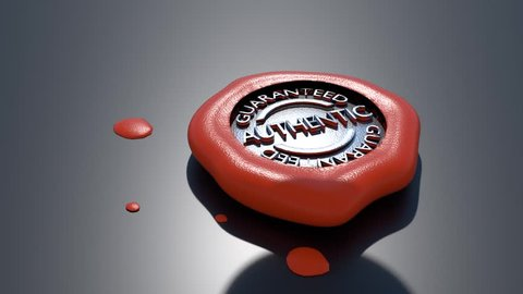 Quality Wax Seal Animations 2 x wax animation seal stamp out quality assurance stamp in some wax.