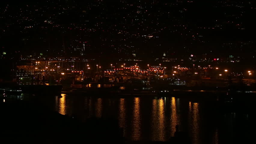 Beirut night sea