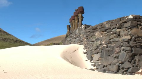 MOAIS IN ANAKENA (EASTER ISLAND)