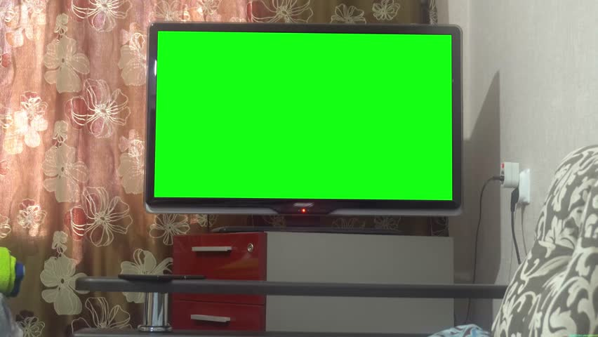 Dolly Move Into a Big Screen TV With Greenscreen. | Shutterstock HD Video #27089074