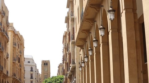 Beirut street General city view historical