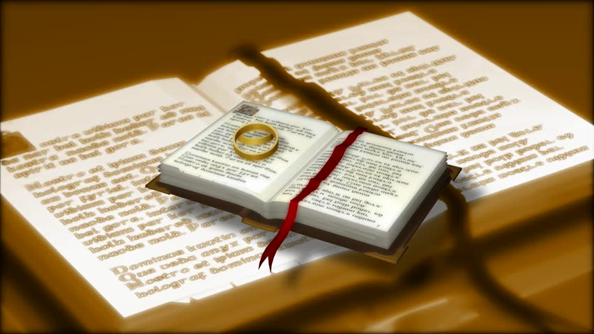 Abstract CGI motion graphics and animated background with book with wedding  rings   HD stock footageCloseup Of Holy Bible Russian Language With Wedding Rings Stock  . Orthodox Wedding Rings. Home Design Ideas