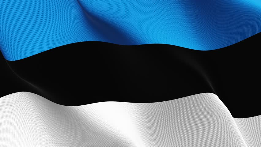 Estonia flag waving seamless loop in 4K and 30fps. Estonian loopable flag with highly detailed fabric texture.   Shutterstock HD Video #27151594