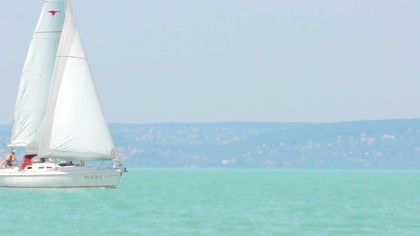 Sailing at the ocean