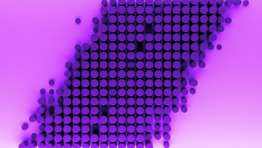 3d rendered cylinders pushing from the surface. Round geometric shape. Abstract background sequence with in and out animation. | Shutterstock HD Video #27181918