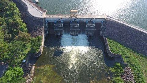 Aerial shot Hydropower Plant Hydroelectric Dam