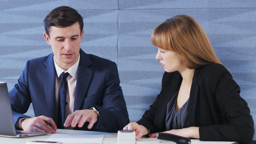 Young Business People Discuss Something | Shutterstock HD Video #27294964