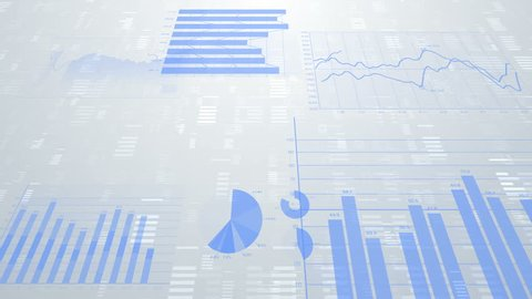 Business data graph digital world space.