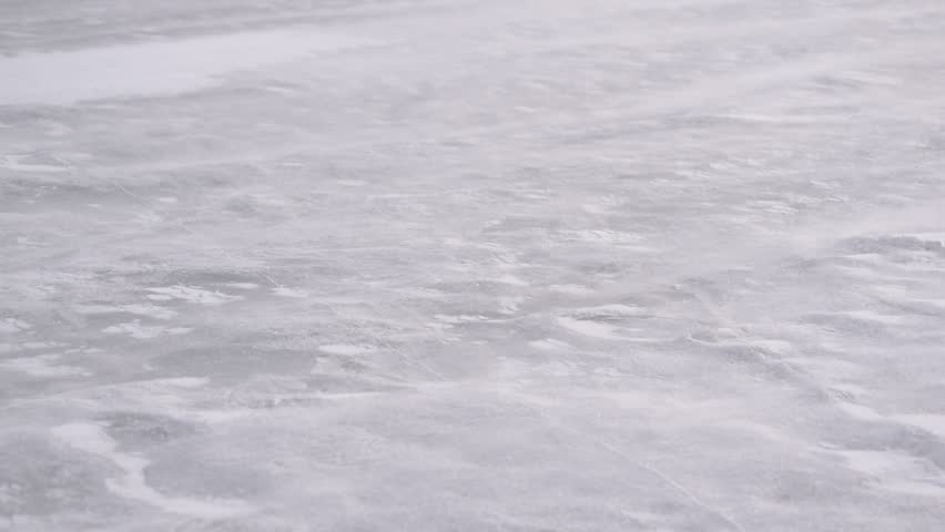 Drift snow on ice in winter blown by fierce heavy wind | Shutterstock HD Video #27359491