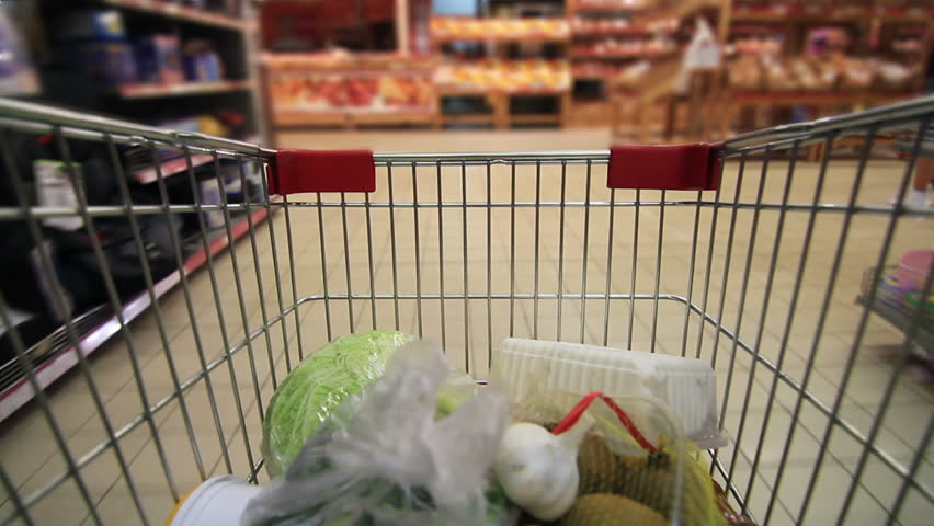 Trolley in a supermarket timelapse | Shutterstock HD Video #2737553