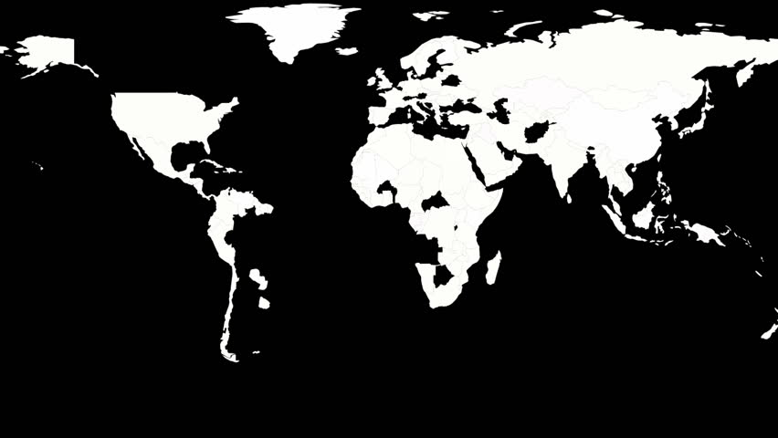 A world map being drawn on a black board stock footage video 2666639 political map of the world black and white hd stock video clip gumiabroncs Gallery