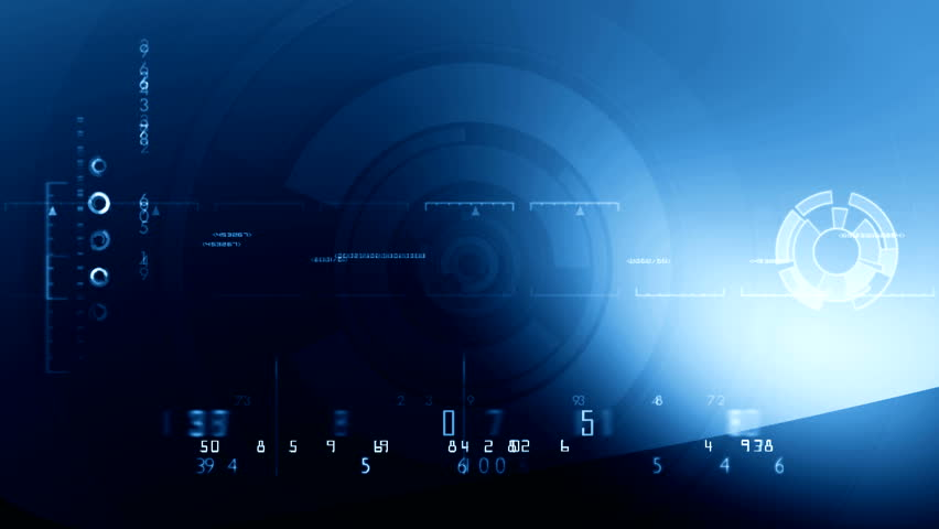 Digital Blue background ( Series 2 - Version From 1 to 12 ) | Shutterstock HD Video #2749124
