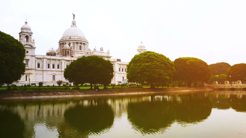 Victoria Memorial In The Evening Kolkata India Time