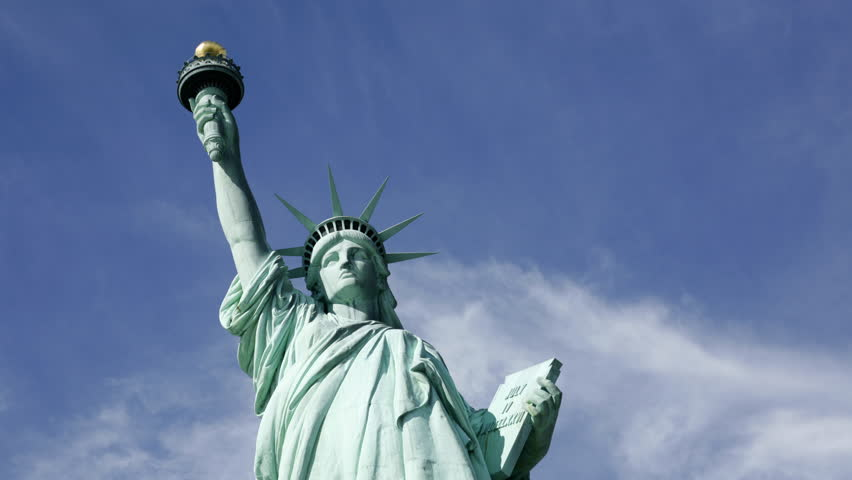 4K time lapse shot of the Statue of Liberty in New York City | Shutterstock HD Video #27566302