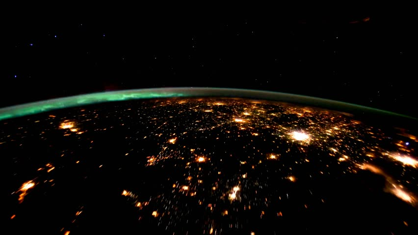 Planet Earth at night seen from the space. Elements of this video furnished by NASA. | Shutterstock HD Video #27596074