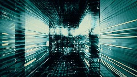 Digital Graffiti 052: Traveling through a maze of streaming data (Loop).
