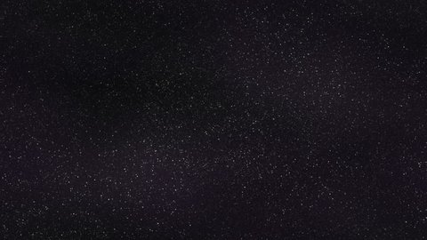 Loopable: Tilting down along tileable pattern of dense realistic starry sky with slowly twinkling stars background.