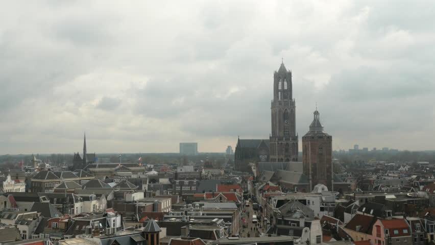 Timelapse shot of Utrecht City Center with Dom and Buurkerk   Shutterstock HD Video #27649294