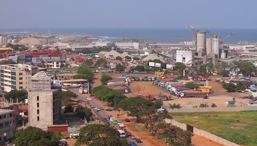 Accra Ghana Africa industrial city, Tema Harbour / port