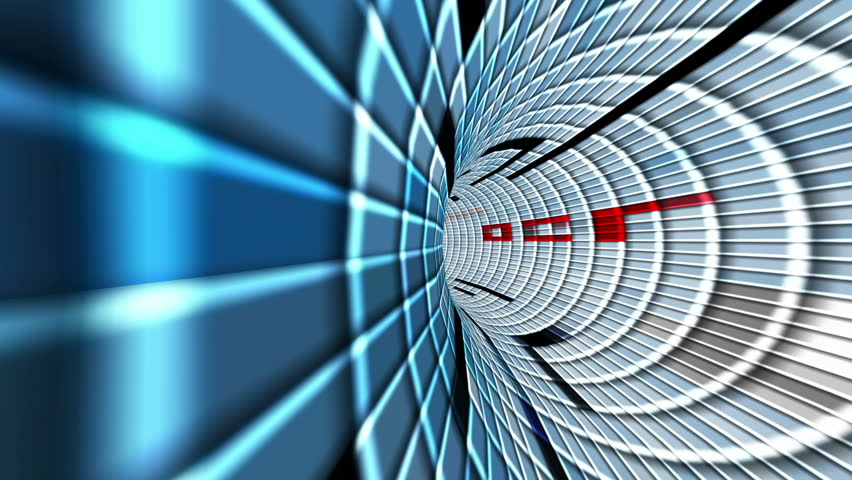 Blue squares tunnel | Shutterstock HD Video #27763174
