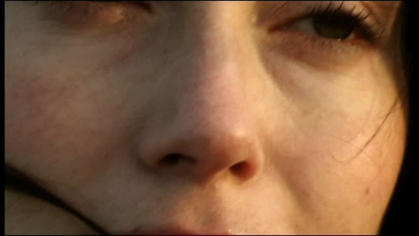 Big close up of young woman's face smiling | Shutterstock HD Video #2778737