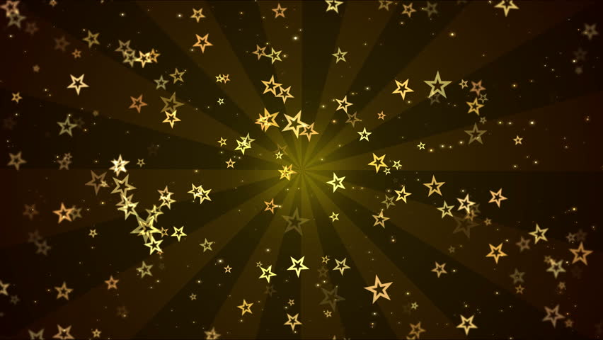 Colorful Animated Star Shapes - Loop Golden   Shutterstock HD Video #27813274