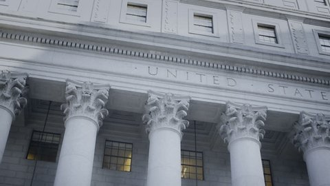 US Federal Courthouse footage