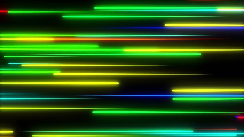 Metro Light Streaks Seamless Looping Motion Background Video Background Loop 4K Horizontal Multicolored Multicoloured | Shutterstock HD Video #27906604