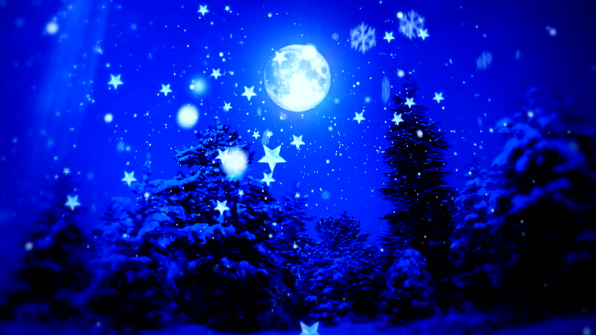 "New Year Snow Christmas and Moon ( Series 3 - Version from 1 to 12 )  "" Thing Different ""  [ BLUE and RED  ]  "" You can find every week new Footage "" + + + "" Have a look at the other Footage series """