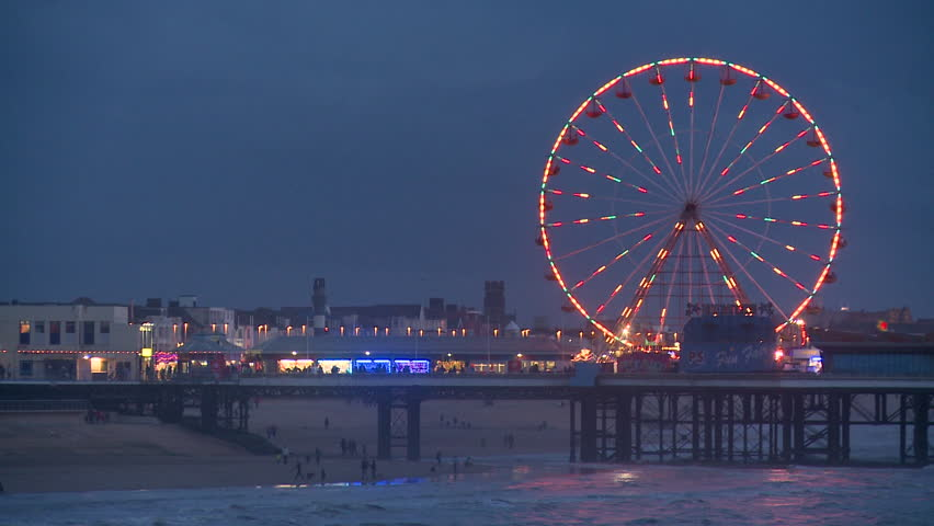 Blackpool Waterfront blue hour