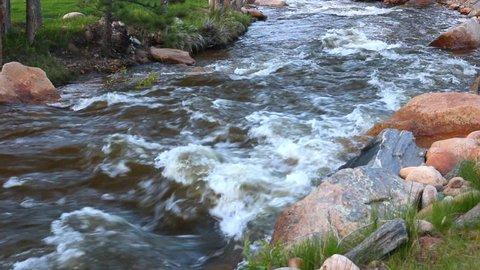 River running through Rocky Mountain National Park