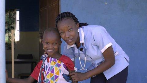 Medics working in Kenya. Africa.