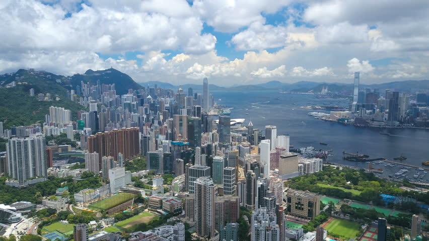 4k aerial hyperlapse video of Victoria Harbour in Hong Kong | Shutterstock HD Video #28170964